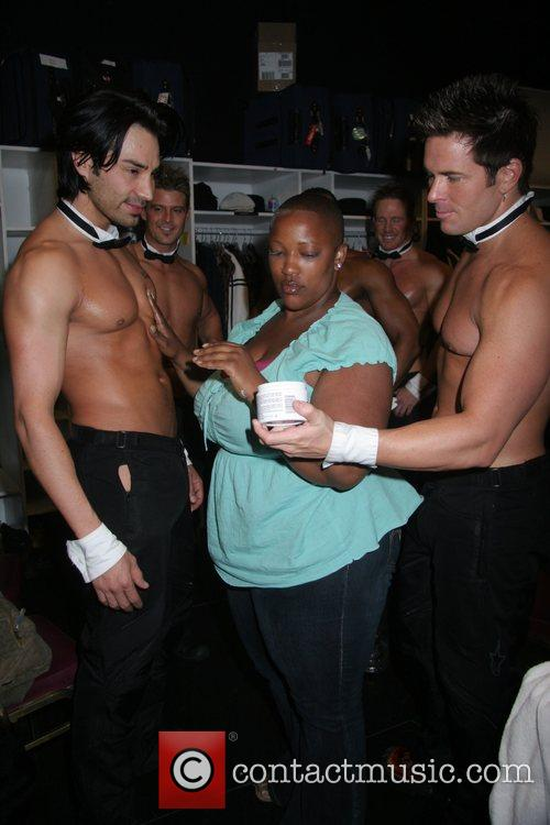 Frenchie Davis attends Chippendales Show at the Rio...