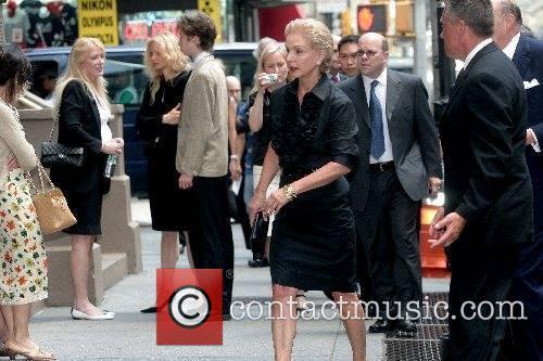 Carolina Herrera arrives at the funeral of Claudia...
