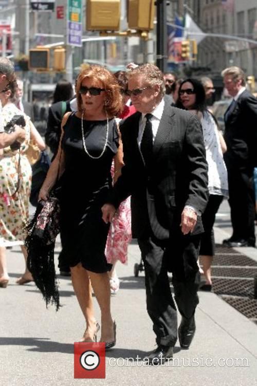 Joy Philbin and Regis Philbin arrive at the...