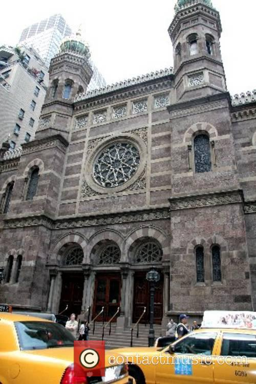 Central Synagogue exterior The funeral of Claudia Cohen...
