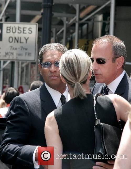 Bryant Gumbel, his wife Hilary Quinlan and Matt...
