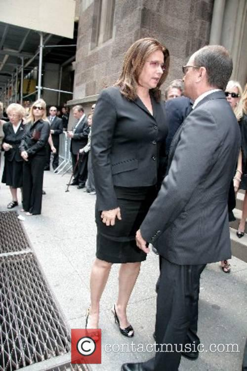 The funeral of Claudia Cohen held at Central...