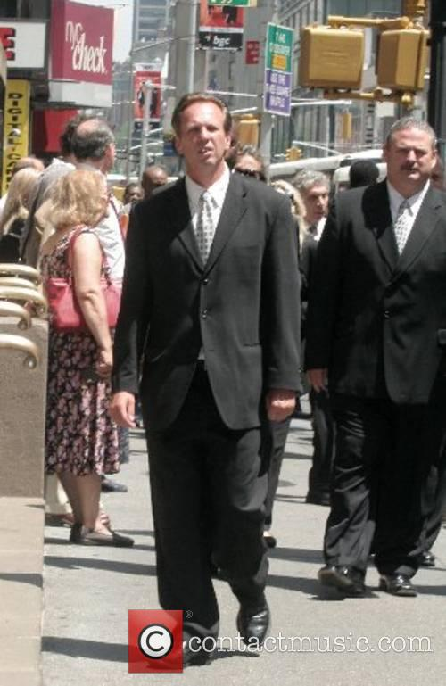 Guests arrive at the funeral of Claudia Cohen...