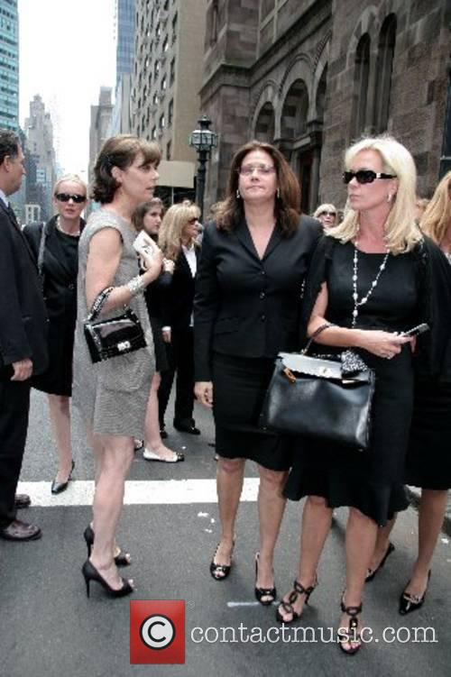 Peggy Siegal, Lorraine Bracco and guests depart the...