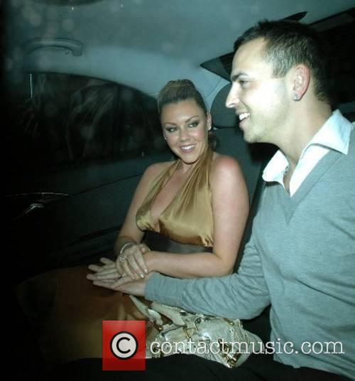 Michelle Heaton and Andy Scott-Lee leaving the Funky...