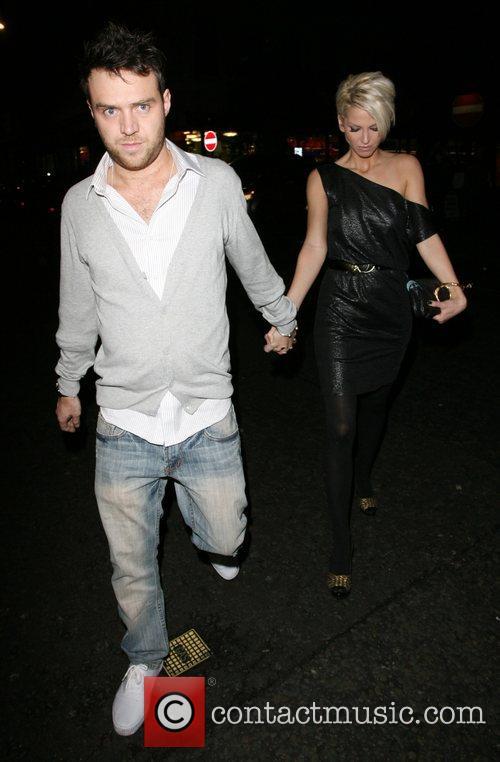 Sarah Harding and boyfriend Tom Crane,  at...