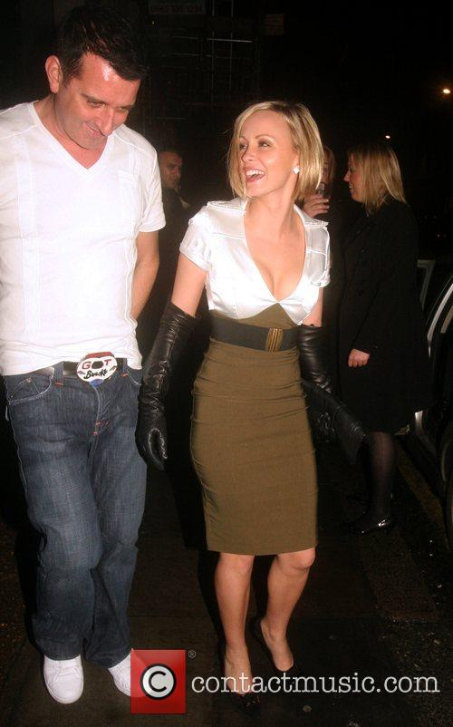 Chanelle Hayes and a male friend Outside Funky...