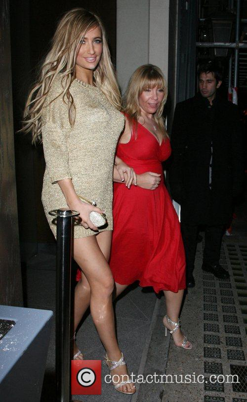 Chantelle Houghton and her mother, who are wearing...