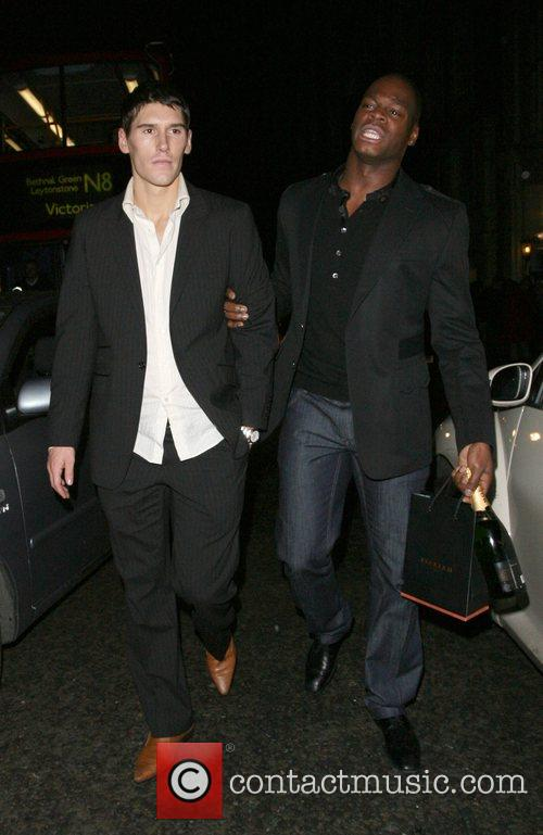 Marlon Harewood holding a very worse for wear...