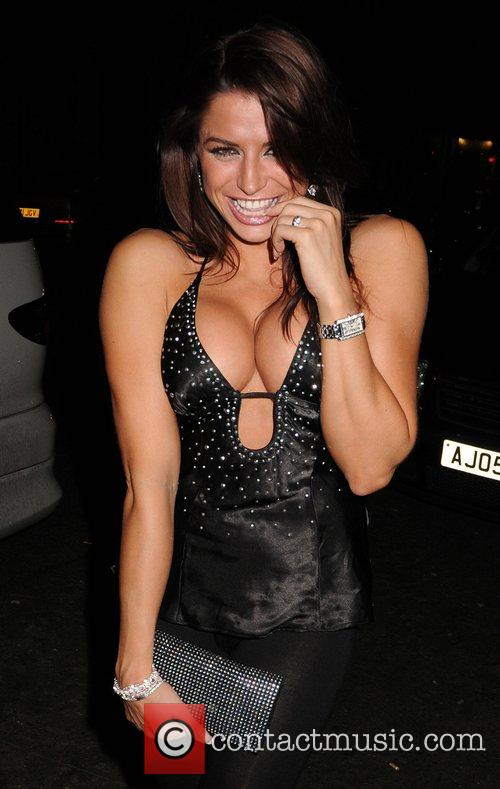 Glamour model Louise Glover  arriving at Funky...
