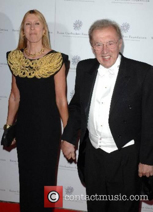 Sir David Frost and his wife Lady Carina...