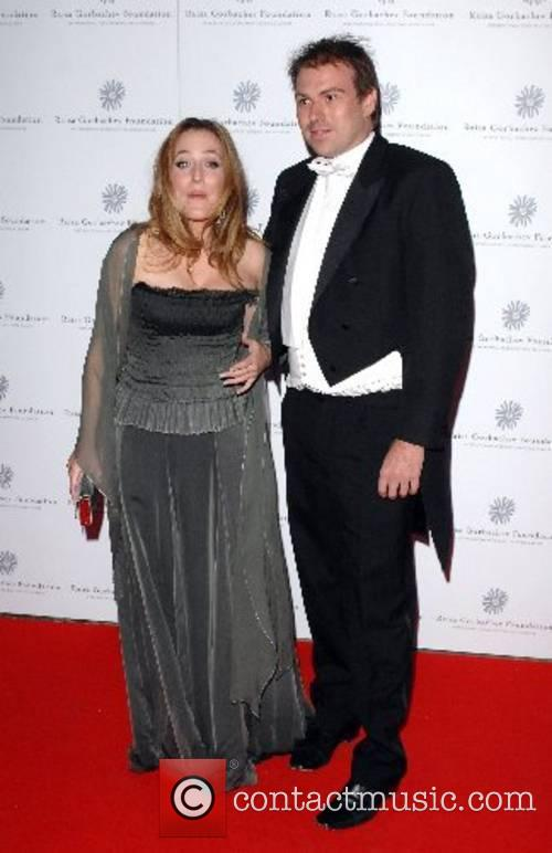 Gillian Anderson and guest Raisa Gorbachev Annual Gala...