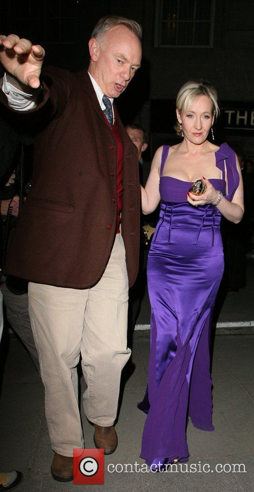J.K Rowling leaving the Galaxy Book Awards ceremony,...