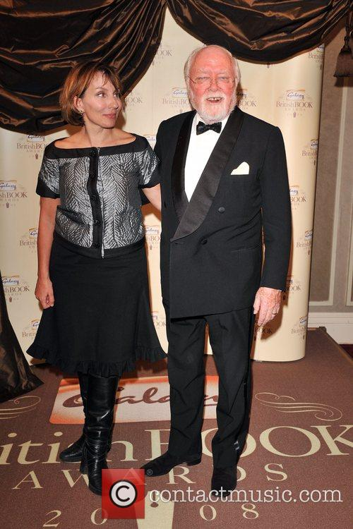 Lord Richard Attenborough and guest Galaxy British Book...