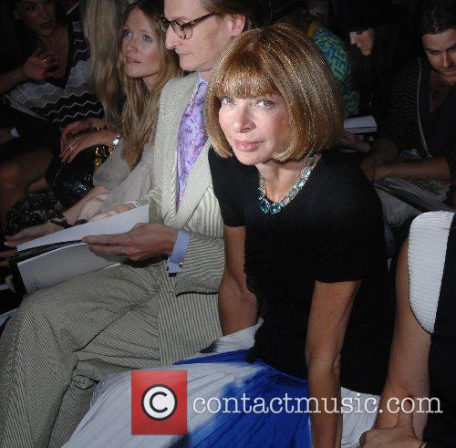 Anna Wintour sits in the front row London...