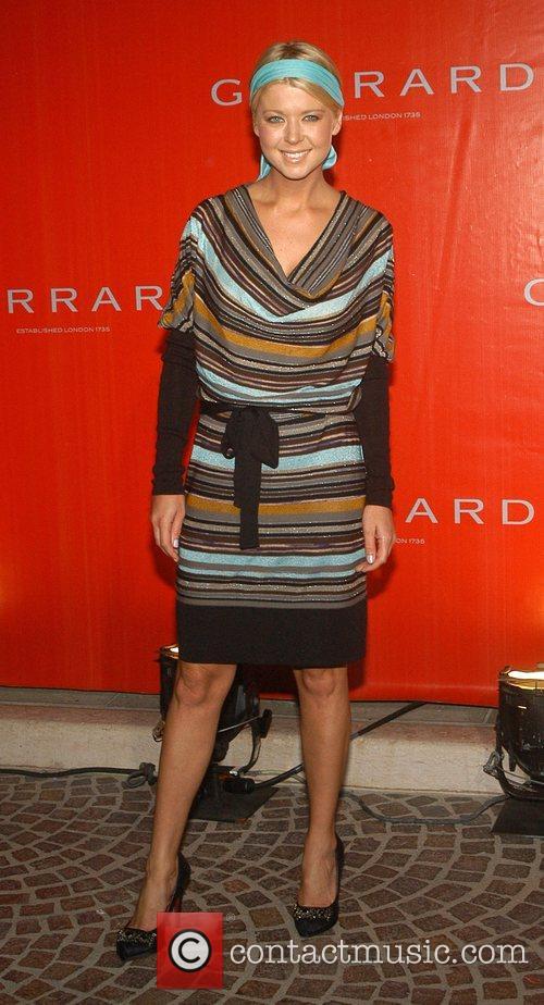 Tara Reid Legendary Jeweler Garrard celebrates the opening...
