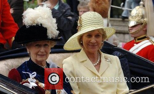 Princess Alexandra and the Duchess of Gloucesterleave in...