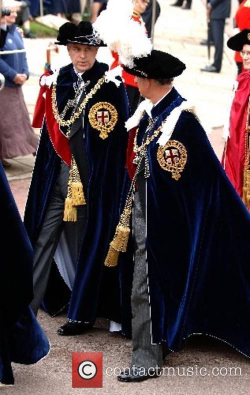 Prince Andrew, Duke of York and Prince Charles,...