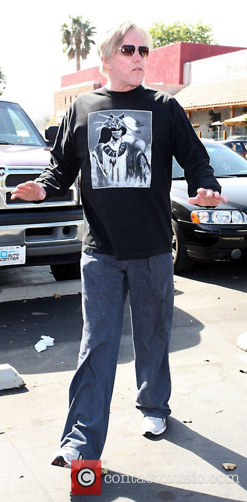 Gary Busey before entering Bay Cities Beauty Store...