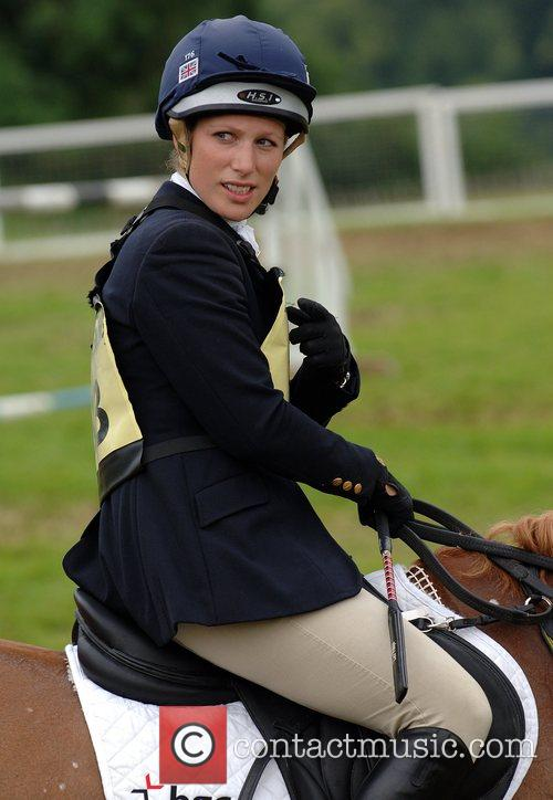 Zara Phillips competes in day 2 of the...