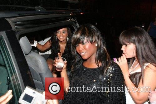 Cherise and Nadia from Booty Luv leaving G-A-Y...