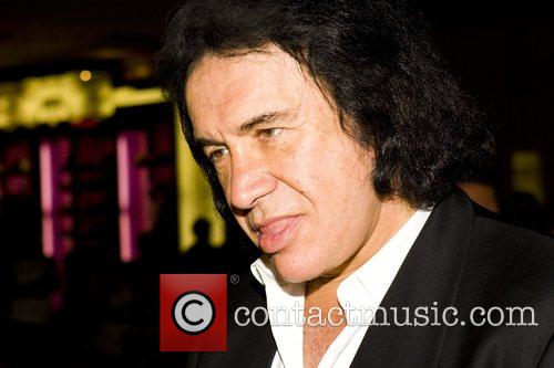 Gene Simmons inside Pure nightclub at Ceasar's Palace...