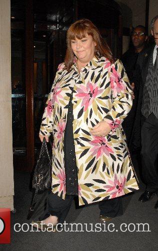 Dawn French,  leaving George Michael's 44th birthday...