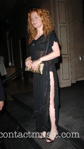 Geri Halliwell,  leaving George Michael's 44th birthday...