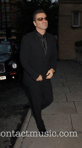 George Michael leaving his 44th birthday party held...
