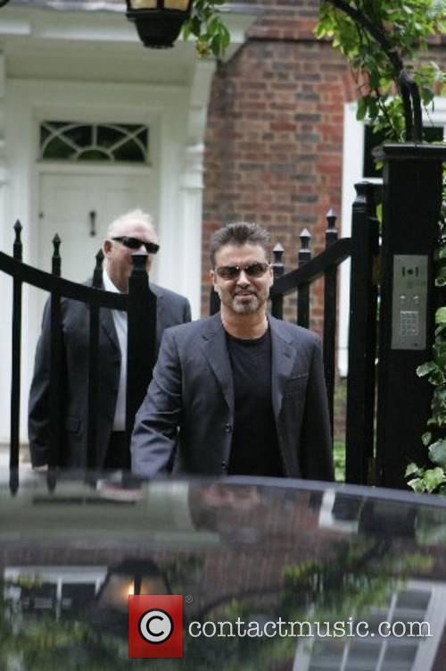 George Michael leaves his house to appear at...