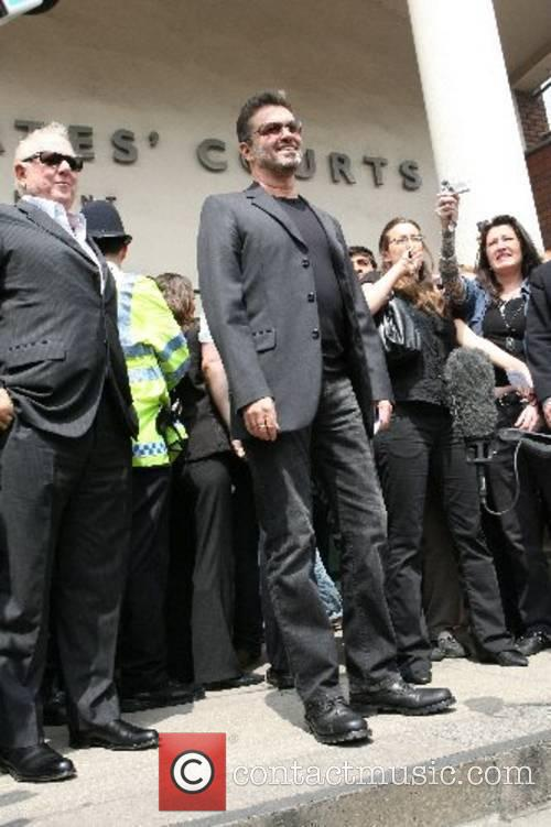 George Michael leaves Brent Magistrates court after being...