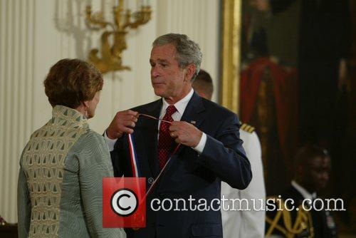 President George W. Bush awarded 30 science and...