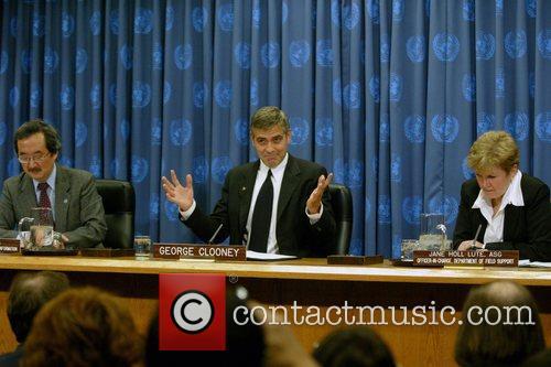 Kiyo Akasaka, George Clooney and Jane Holl Lute...