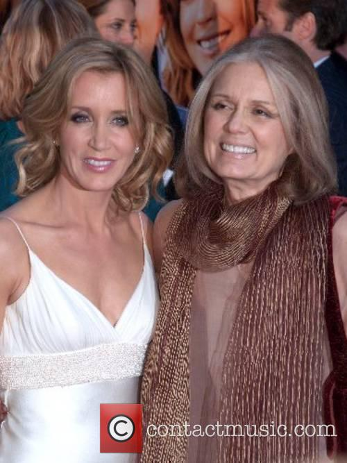 Felicity Huffman and Gloria Steinem at the New...
