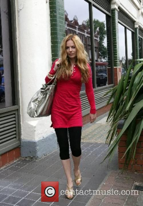 Geri Halliwell arriving at a recording studio the...