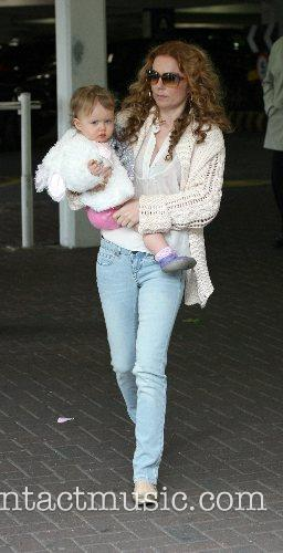Geri Halliwell and daughter Bluebell Madonna arrivae at...