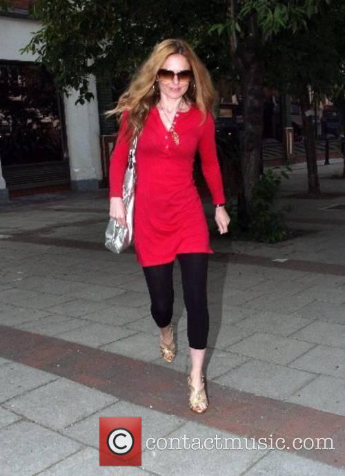 Geri Halliwell leaving a recording studio London, England