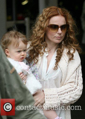 Geri Halliwell and daughter Bluebell Madonna arrive at...