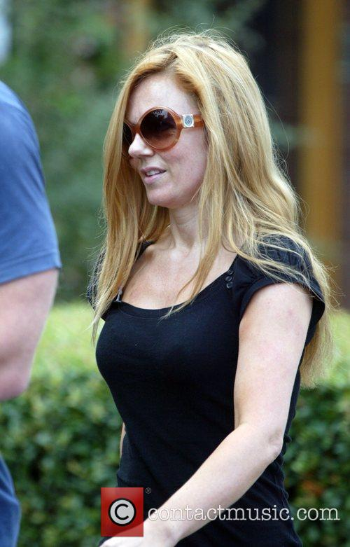 Geri Halliwell returns home after a workout with...