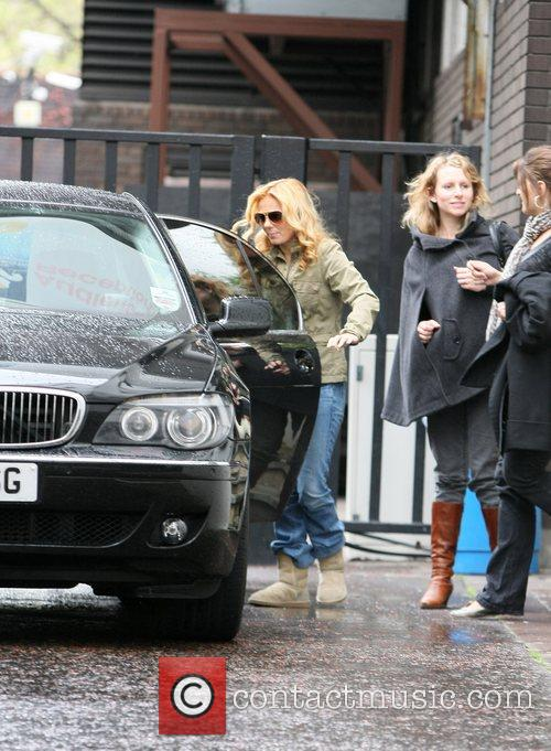 Geri Halliwell leaving the GMTV studios after promoting...
