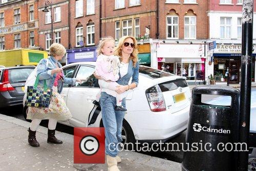 Geri Halliwell on her way to ''Cubs Shoe...