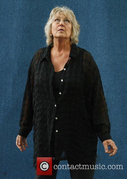 Professor Germaine Greer attending the Edinburgh Book Festival...