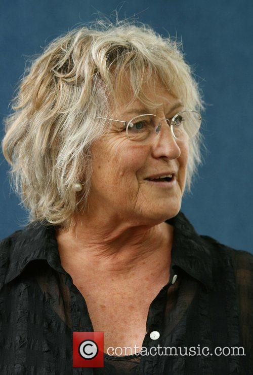 Professor Germaine Greer attending the Edinburgh Book Festival...
