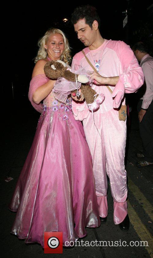 Gerry Stergiopoulos and a friend 'Think Pink' party...