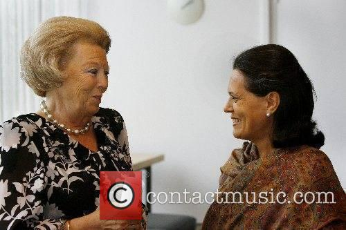 Queen Beatrix of the Netherlands, left, and Sonia...