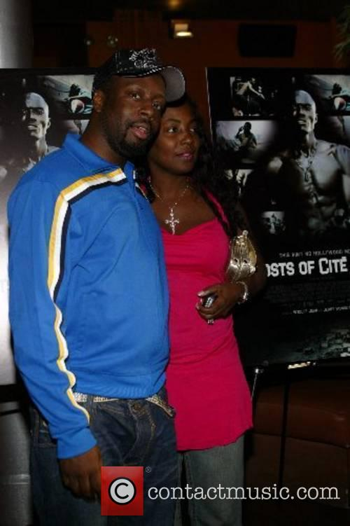 Wyclef Jean and wife Claudinette Jean New York...