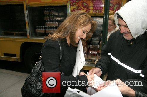 Chef Giada De Laurentiis leaving Rockefeller Plaza after...