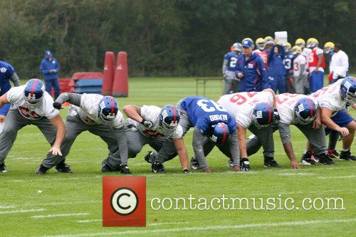 New York Giants train at the Chelsea Football...