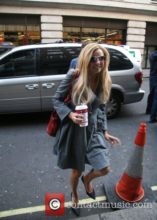 Of Girls Aloud arriving at a London hotel...