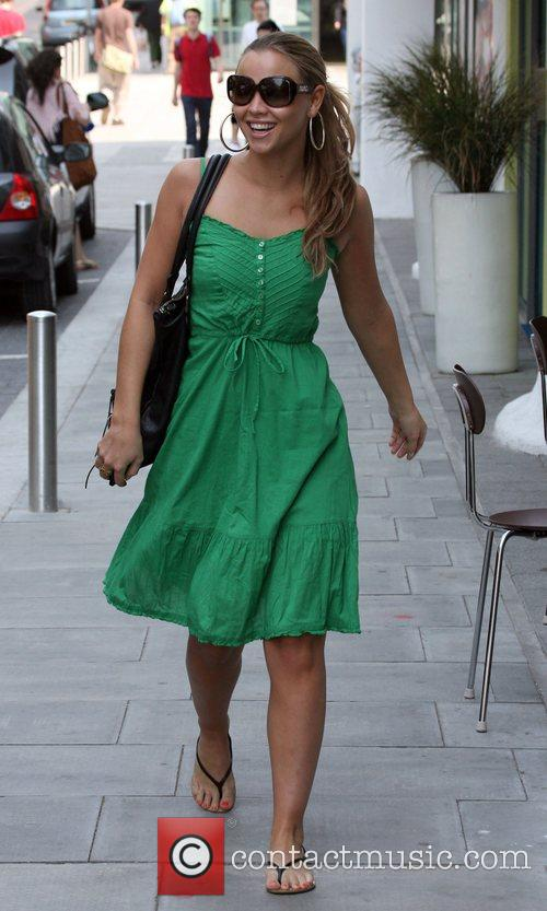Kimberley Walsh leaving her hotel ahead of her...